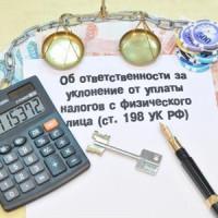 Ответственность за уклонение от уплаты налога по УК РФ