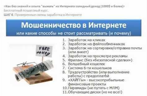 виды и схемы интернет мошенничества