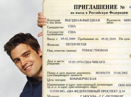 оформление приглашения для иностранцев