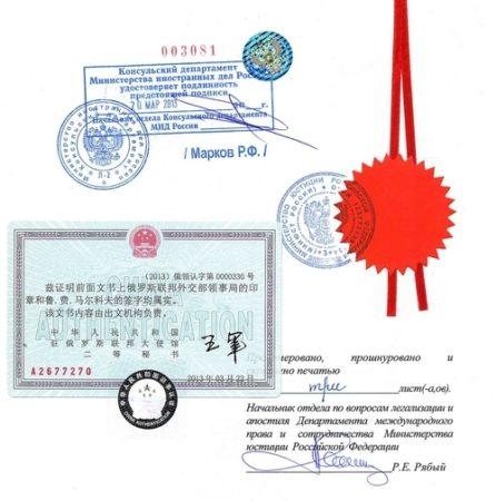консульское заверение копии документа