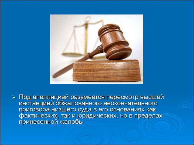 определение апелляции